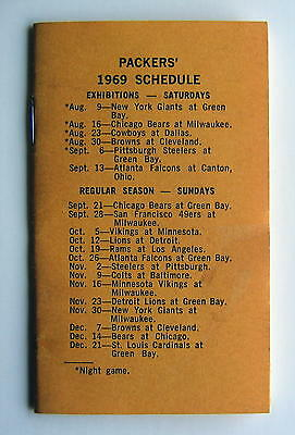 1969 Green Bay Packers / Franklin High School Athletics Schedule Booklet