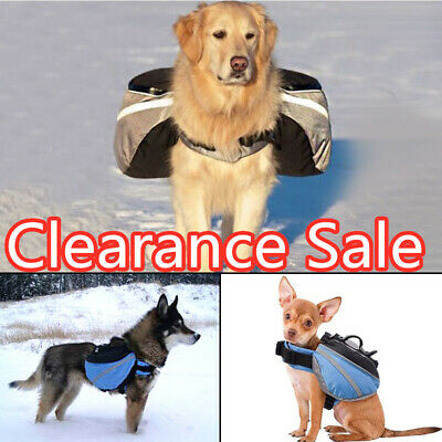 Pet Dog Outdoor Travel Hiking Camping Saddle Bag Backpack Harness Back Pack