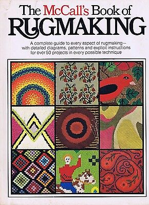 Vintage McCall's Book of Rug Making 1970s Needlework Craft Hand Punch Latch Hook