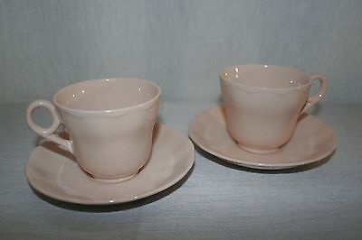 LOT of 2 SETS Grindley PEACH PETAL Cups and Saucers, EXC COND.!