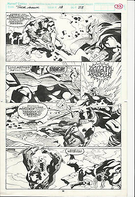 THOR ANNUAL ISSUE # 18 PAGE 33 ORIGINAL ART by TOM GRINDBERG MARVEL COMICS