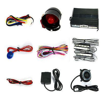 Well Universal Car Vibration Alarm Security Syetem & F809W Remote System Kit New