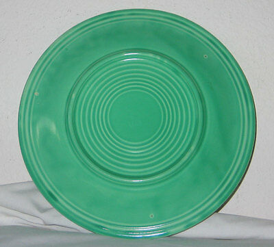"""Vintage Fiesta Homer Laughlin 10-1/4"""" Green Dinner Plate - Early Production"""