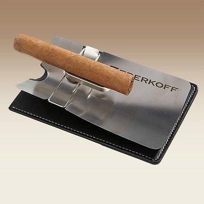 NEW Zederkoff Pocket Travel Cigar Ashtray & Leather Case! ON SALE! OVER 50% OFF!