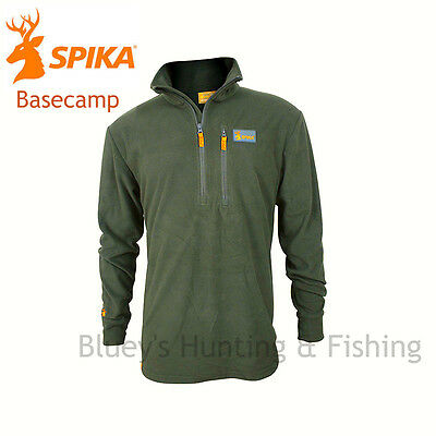 Spika mens Hunting Basecamp Olive Camo fleece jumper P-110 ;NEW