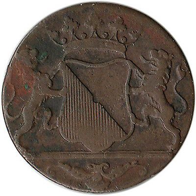 1790 Netherlands East Indies - Utrecht 1 Duit Coin KM#111.1