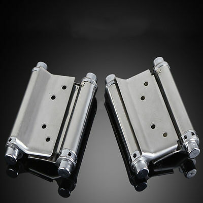 """US Stock 2pcs 4"""" Double Action Spring Hinge Door Swing Saloon Kitchen Cafe Gate"""