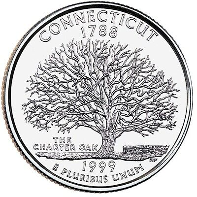 1999 United States CONNECTICUT - D - American Quarter coin (No Tax)