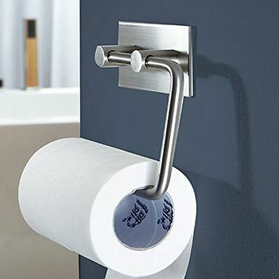 Steel Toilet Kitchen Roll Paper Holder Tissue Storage Wall Mount Bath Organizer