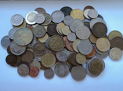Bulk Lot of over 100 Mixed world coins