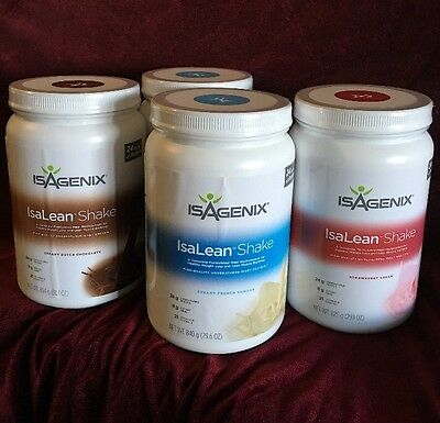 4 x Isagenix IsaLean Protein Shake Meal Replacement weight loss