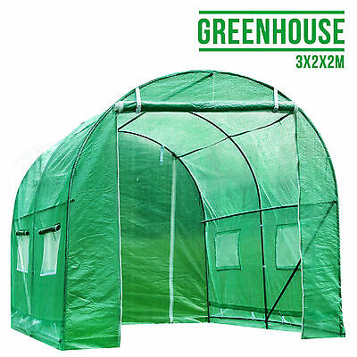 3M X 2M Fully Galvanised Steel Frame Poly Tunnel Greenhouse Polytunnel Tunnel