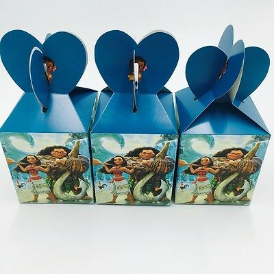 12pcs Moana Theme Candy Box Kids Birthday Party Supplies Favors Baby Shower