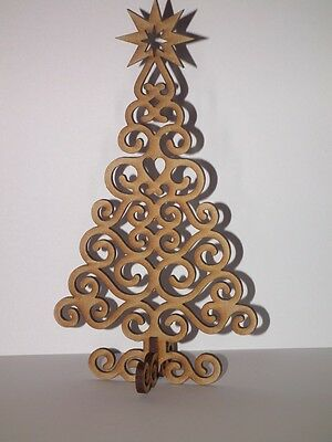 Free Standing Wooden Christmas Tree