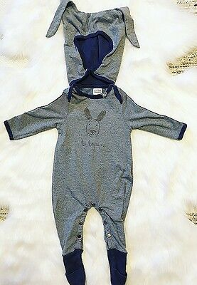Eeni Meeni Miini Moh Jumpsuit With Detachable Hood / Size 000 / 0-3 Months