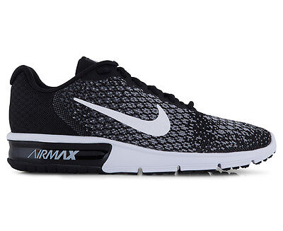 Nike Women's Air Max Sequent 2 Shoe - Black/White-Dark Grey