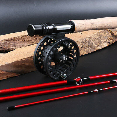 Fly Fishing Rod with Reel Combos Bass Trout Black or Silver Fly Fishing Kits