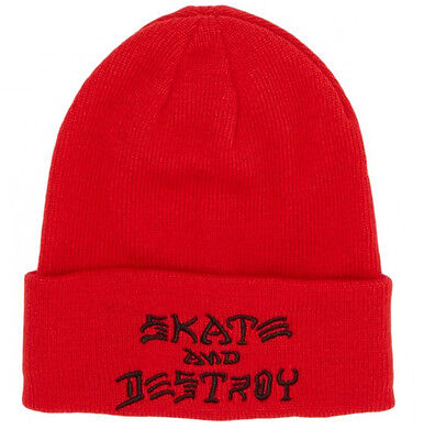 Thrasher - SAD Embroidered Beanie Red