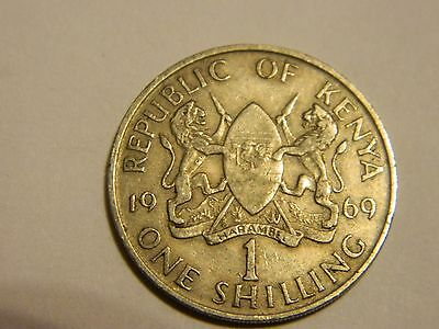 1969 Kenya 1 One Shilling ----Lot #1,911