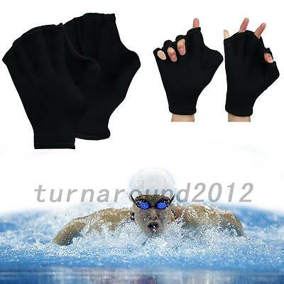 Creative 1 Pair Swimming Gloves Hand Webbed Finger Fins Paddle Palm Water Sports