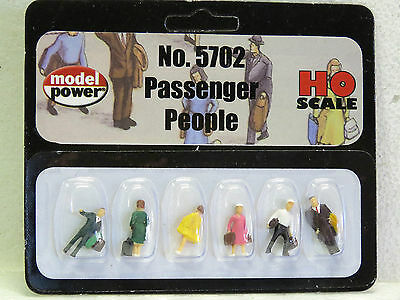 MODEL POWER HO Scale PASSENGER PEOPLE #5702 6pc PAINTED New in pack