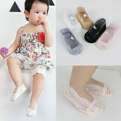 Infant Invisible Non-Slip Ankle Sock Kid Baby No Show Cotton Low Cut Lace Sock