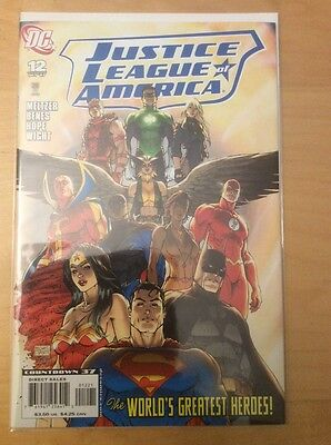 Justice League Of America 12, Nm (9.2 - 9.4), 1St Print, Turner Variant, 2007