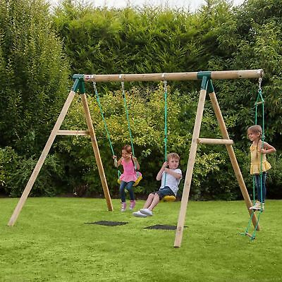 NEW! Plum Wooden Kids Swing Set Childrens and Climbing Frame