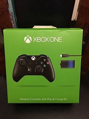 NEW Official Xbox One Wireless Controller with Play and Charge Kit