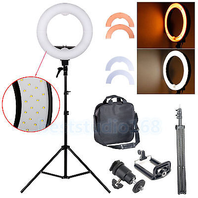 "Studio LED 35W 5500K 12"" Photo Video Ring Light with Color Fliter + 200cm Stand"