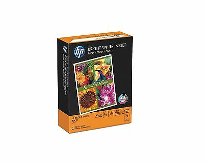 HP Bright White Inkjet Paper 24lb 97 Bright 8 1/2 x 11 500 Sheets Ream Special