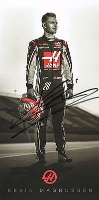 Kevin Magnussen signed official autograph session card Haas F1 Team 2017!
