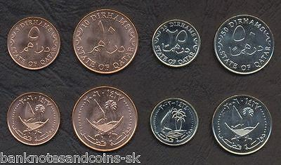 QATAR COMPLETE CURRENT COIN SET 5+10+25+50 Dirhams 2003-06 UNC UNCIRCULATED LOT