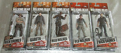 5 The Walking Dead McFarlane Series 7 Figuren Rick Grimes Walker Gareth Neu OVP