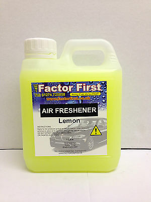 LEMON CAR AIR FRESHENER LIQUID CONCENTRATE 1 Litre CAR VALETING FACTOR FIRST NEW