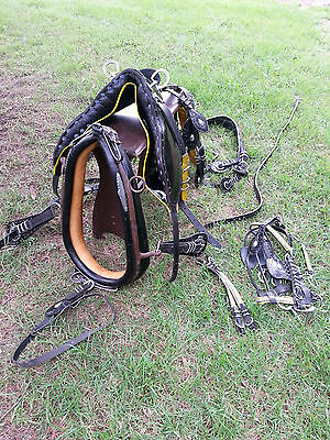 Horse Cab Harness, Gypsy Cob Vanner Set of Harness Suit Full Size Horse