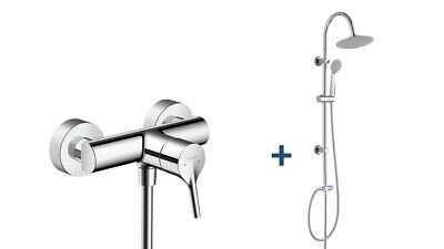 hansgrohe showerpipe regendusche crometta e 240 1jet duschset thermostat armatur eur 268 90. Black Bedroom Furniture Sets. Home Design Ideas
