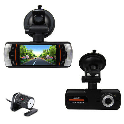 "2.7"" Vehicle 1080P Car Dash Cam DVR Camera Video Recorder G-Sensor GPS Dual Lens"