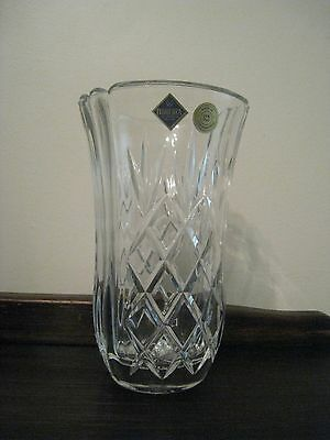 BNIB CORTINA Bohemia Crystal 24% PbO vase (Made in Czech Republic)