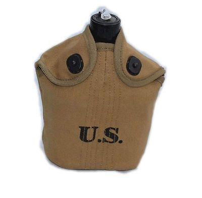 Wwii Era Us Army Army Usmc Military M1910 Dismounted Canteen And Cover
