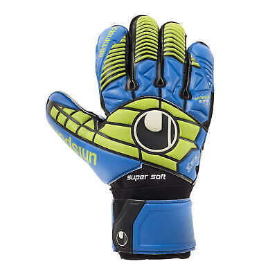 uhlsport Eliminator Supersoft Torwarthandschuhe Goalkeeper Gloves blau/powergrün