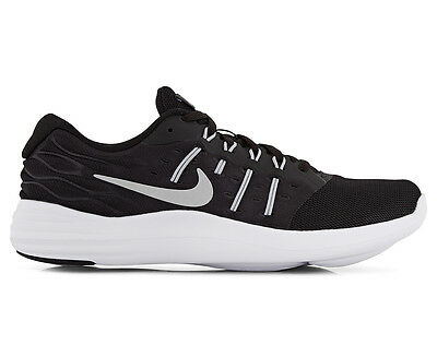 Nike Women's Lunarstelos Running Shoe - Black/Metallic Silver