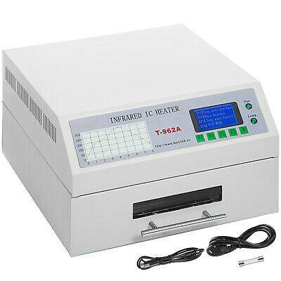 1.5KW Reflow Oven Machine T962A 300×320mm Soldering Area Infrared Radiation