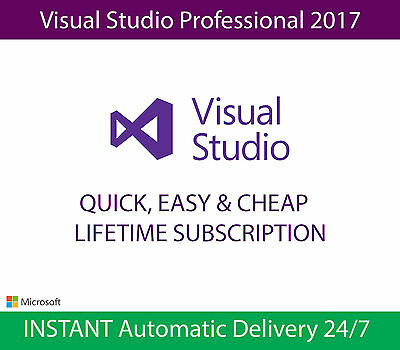 Microsoft Visual Studio Professional 2017 | UNLIMITED Users | INSTANT Delivery