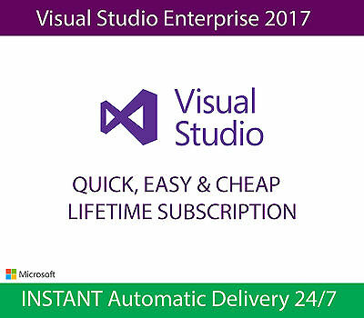 Microsoft Visual Studio Enterprise 2017 | UNLIMITED Users | INSTANT Delivery