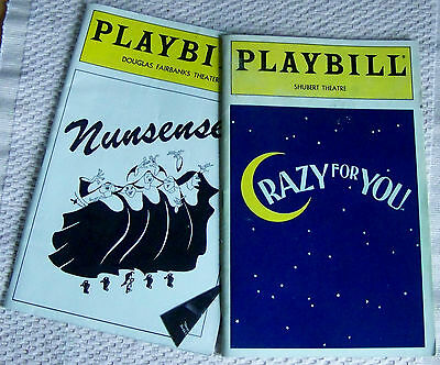 Lot Of 2 Broadway & Theater Playbills From 1993. One With Ticket Stubs. (Kg)