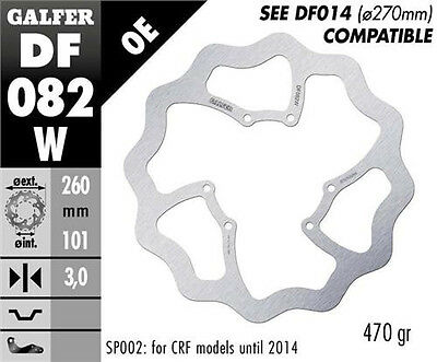 Galfer Standard Size Front Wavey Disc for Honda CRF - DF082W