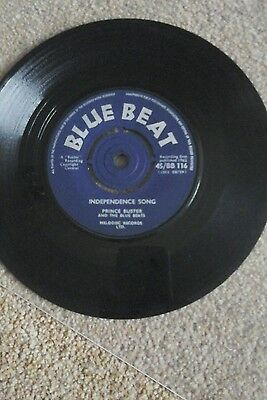 "PRINCE BUSTER-INDEPENDENCE SONG.VINYL 7""45RPM.BLUE BEAT.VGC to VGC+"