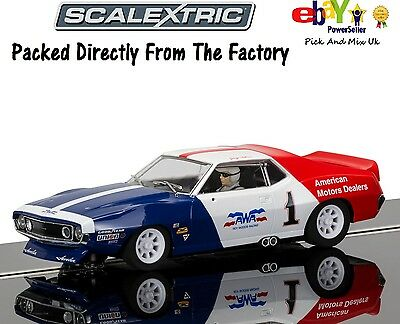 NEW IN  Scalextric Slot Car AMC Javelin Trans Am, George Follmer C3875