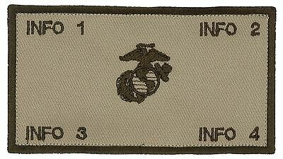 Flak Plate Carrier USMC ID w/Fastener: Custom Embroidery Patch (V2)